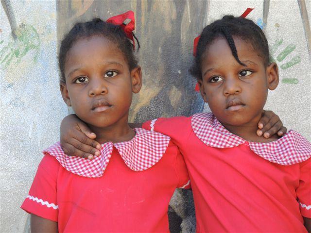 Haiti Kinder Zwillinge Paten