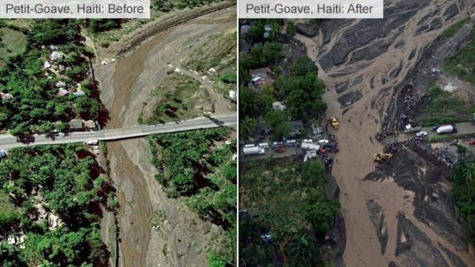 Haiti Hurrikan Matthew Karte